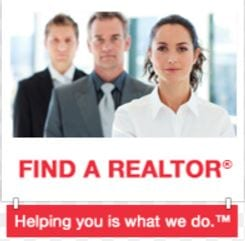 website find a realtor button